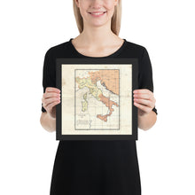 Load image into Gallery viewer, Milites Maps - Pre-Rework Italy - Framed