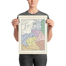 Load image into Gallery viewer, Milites Maps - German Eastern Border - Client States - Poster