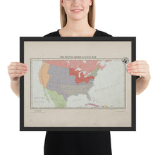 Load image into Gallery viewer, Aidan Maps - The Second American Civil War - Framed