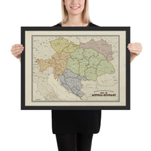 Load image into Gallery viewer, Ruskie Business - Austria-Hungary Map - Framed