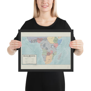 Aidan Maps - Mittelafrika Map - Framed