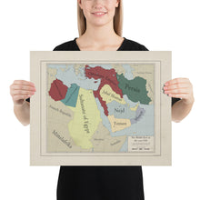 Load image into Gallery viewer, Red Leather Cartography - Ottoman Empire & The Middle-East map - Poster