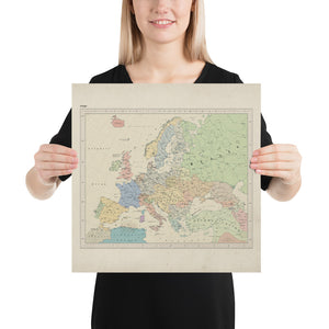 Ruskie Business Europe Map - Poster (Old Atlas Style)