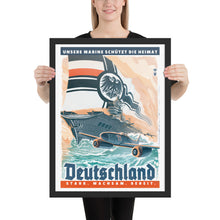 Load image into Gallery viewer, German Empire Propaganda Poster - Framed - Stark, Wachsam, Bereit