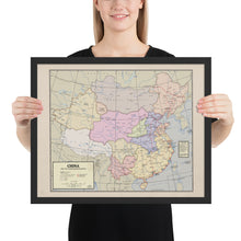 Load image into Gallery viewer, Flamefang Maps - China after the Xuantong Restoration - Framed