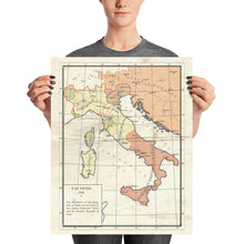 Load image into Gallery viewer, Milites Maps - Pre-Rework Italy - Poster