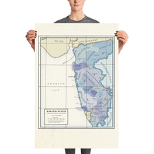 Load image into Gallery viewer, Milites Maps - Maratha States - Poster