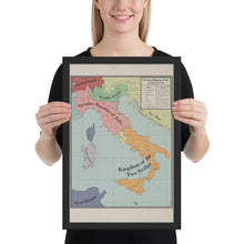 Load image into Gallery viewer, Long Lang Lin Maps - Italy after the Weltkrieg - Framed