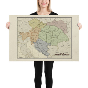 Ruskie Business - Austria-Hungary map - Poster