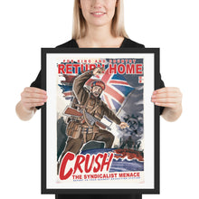 Load image into Gallery viewer, Dominion of Canada Propaganda Poster - Framed - Return Home