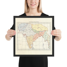 Load image into Gallery viewer, Milites Maps - India - Framed