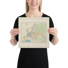 Load image into Gallery viewer, Ruskie Business Europe Map - Poster (Old Atlas Style)