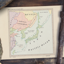 Load image into Gallery viewer, Ruskie Business Maps - The Japanese Empire and Co-Prosperity Sphere- Poster