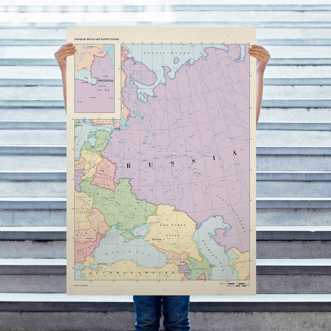 Ruskie Business Maps - Russia & Eastern Europe - Poster