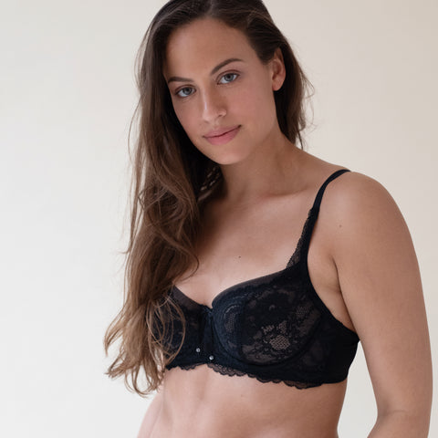 Minx Balconette Bra in Black