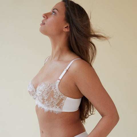 Entice Balconette Bra in Nylon/Sheer