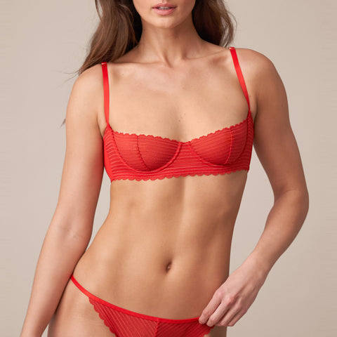 Rogue Multi-Way Unlined Balconette Bra in Heart Throb