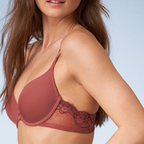 Honey Multi-Way T-Shirt Bra in Rosebud/Spiced Plum