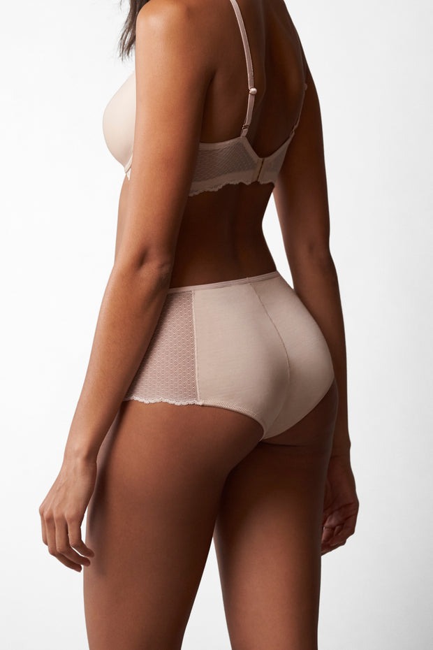 Beloved High-Rise Chikini in Cashmere Back View