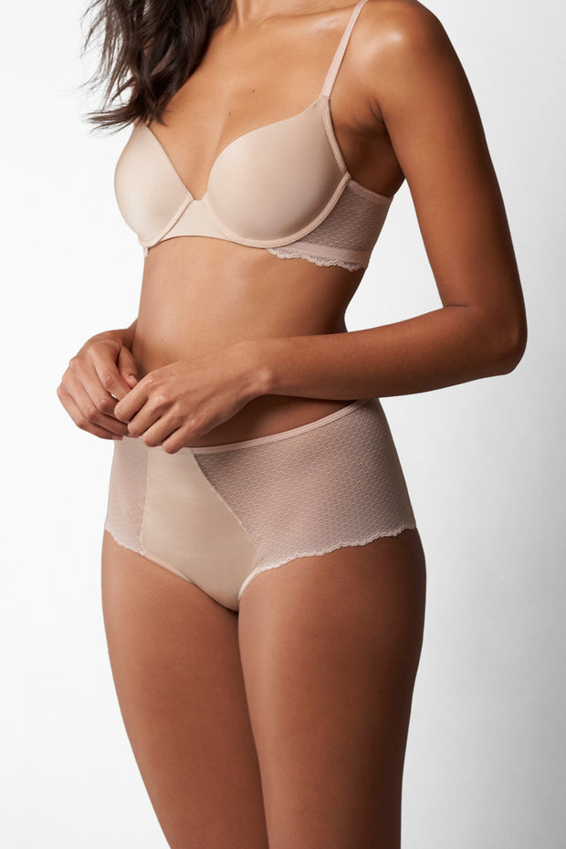 Beloved High-Rise Chikini in Cashmere Front View