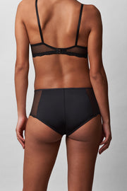 Beloved High-Rise Chikini in Black Back View