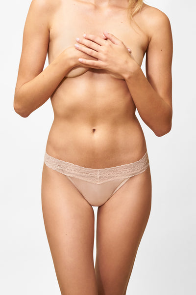 Bloom Thong in Cashmere Front View