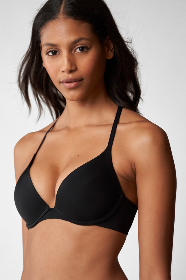 Breathless Multi-Way Push-Up Bra in Black Front View