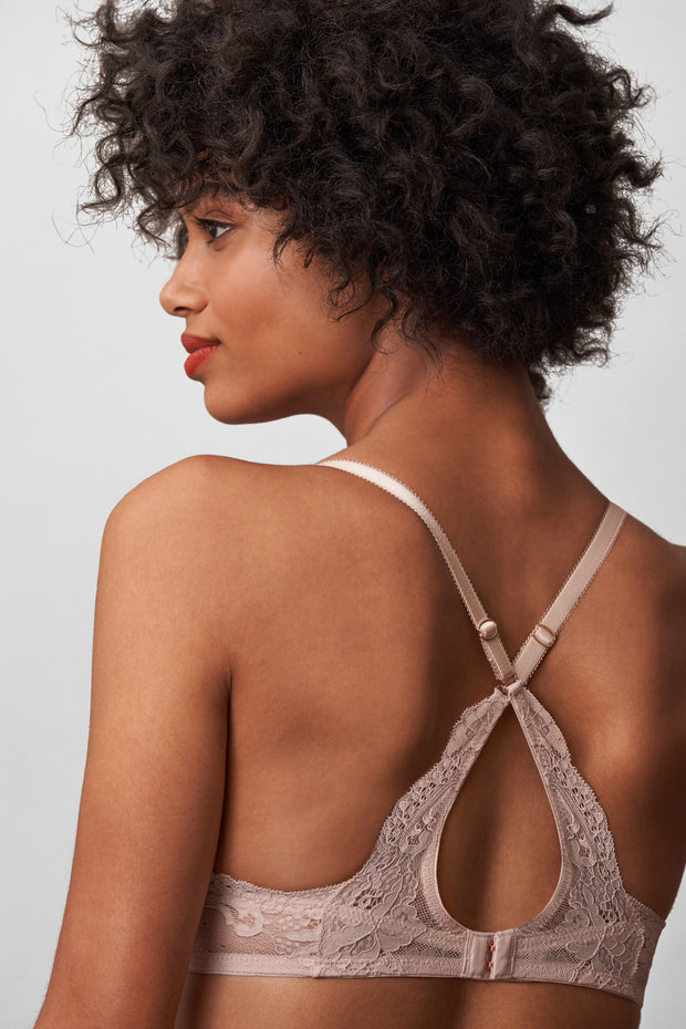 Honey Multi-Way T-Shirt Bra in Cashmere X-Back View