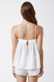 Innocent Cotton Cami & Cotton Lounge Short Set in White Back View