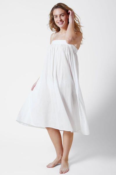 Innocent Cotton Chemise in White Side View