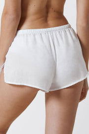 Innocent Cotton Lounge Short in White Back View