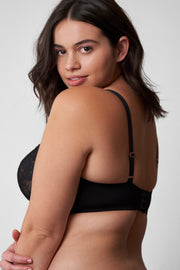 Minx Balconette Bra in Black Back View