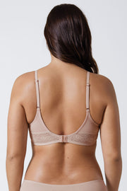 Petal Multi-Way Cotton T-Shirt Bra in Cashmere Back View