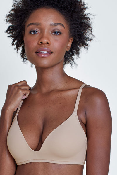Prestige Wireless Push-Up Bra in Cashmere Front View