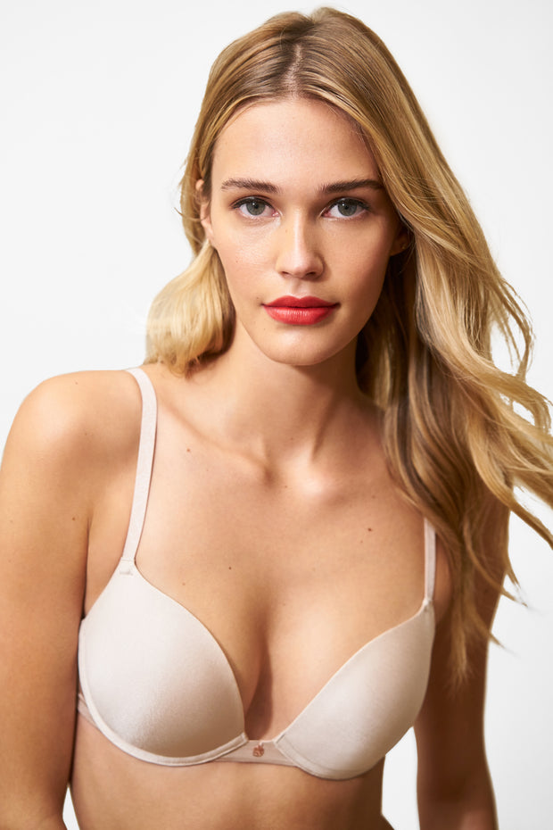 Glimpse Multi-Way Push-Up Bra in Cashmere/Lt. Ivory Front View 2