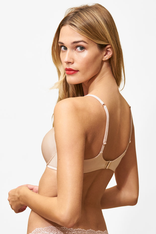 Glimpse Multi-Way Push-Up Bra in Cashmere/Lt. Ivory Back View 2