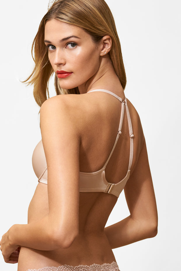 Glimpse Multi-Way Push-Up Bra in Cashmere/Lt. Ivory X-Back View 2