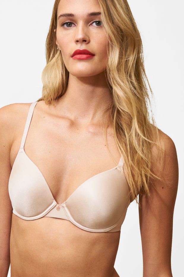 Glimpse Multi-Way T-Shirt Bra in Cashmere/Lt. Ivory Front View