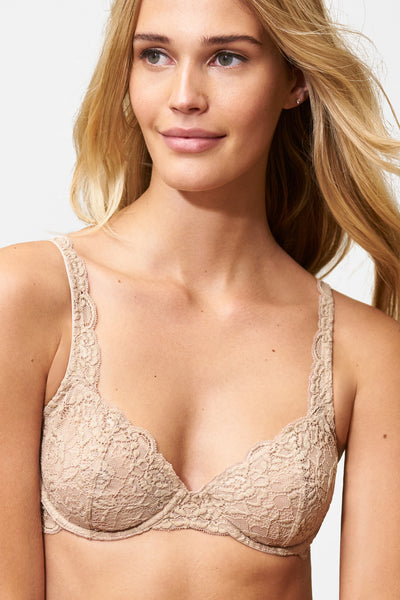 Goddess Multi-Way Underwire Bra in Cashmere Front View