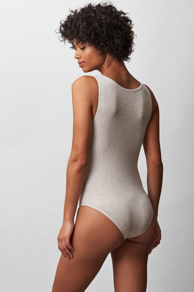 Daydream Bodysuit in Grey Heather Back View