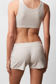 Daydream Lounge Short in Grey Heather Back View