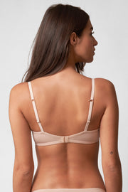Fresh Multi-Way Cotton T-Shirt Bra in Cashmere Back View