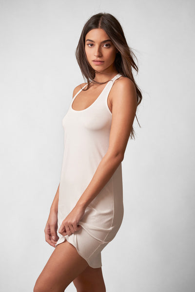 Fresh Racerbank Tank Slip in White Front View