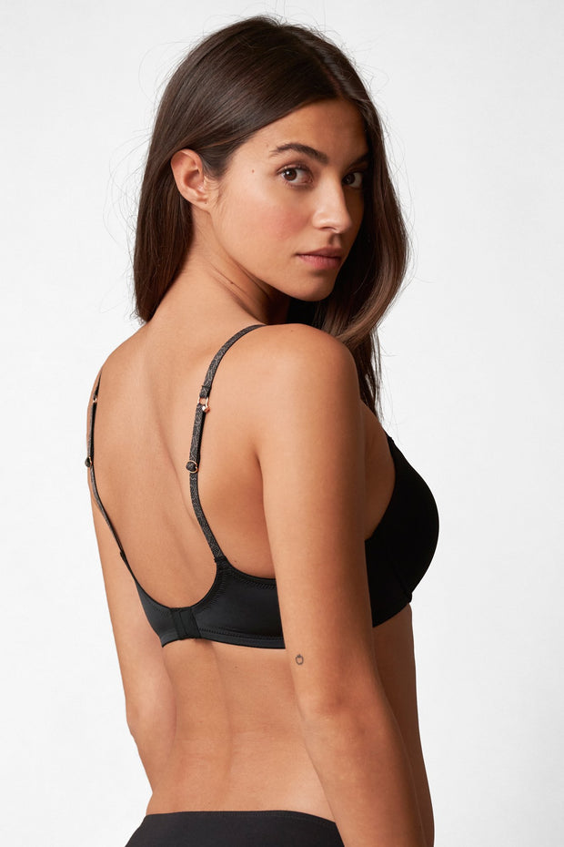 Glimpse Multi-Way Push-Up Bra in Black/Slate Back View