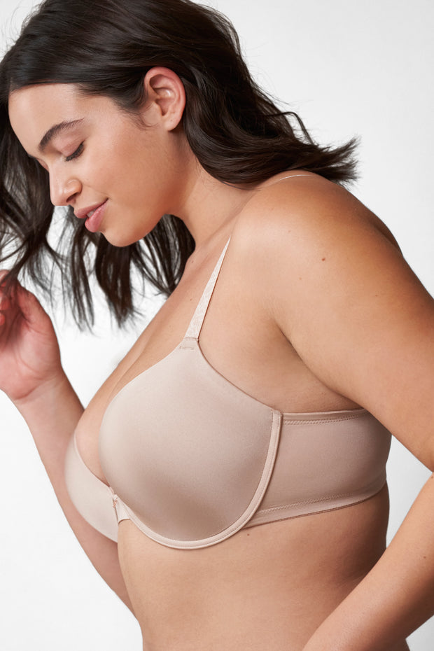 Glimpse Multi-Way Push-Up Bra in Cashmere/Lt. Ivory Side View