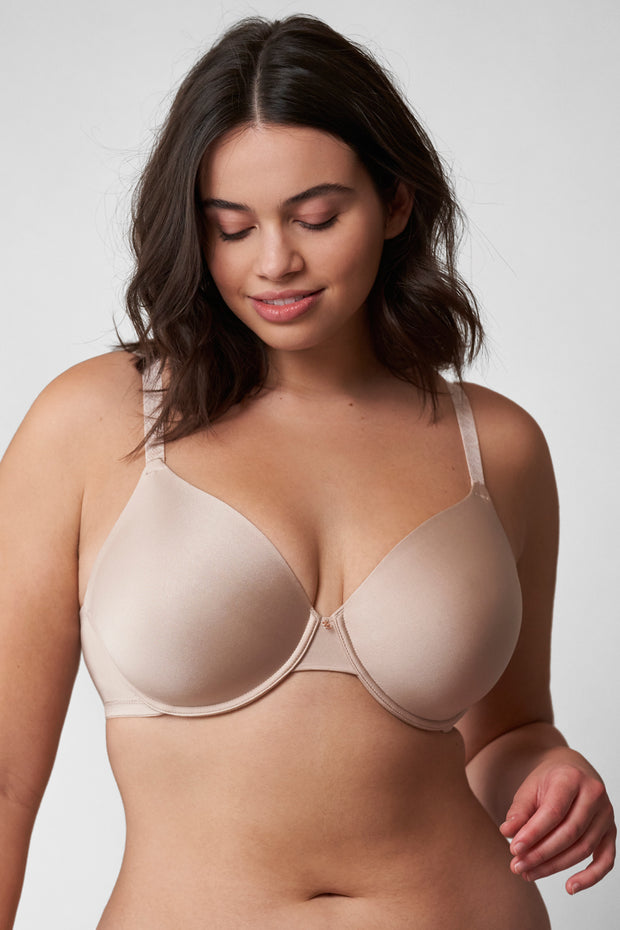 Glimpse Multi-Way T-Shirt Bra in Cashmere/Lt. Ivory Front View 2