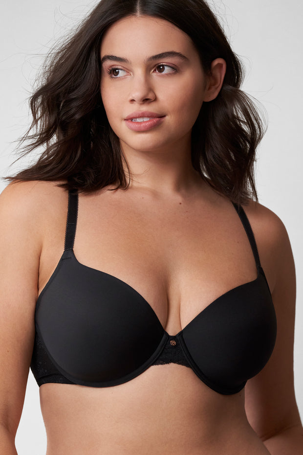 Honey Multi-Way T-Shirt Bra in Black Front View