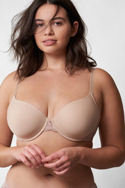 Honey Multi-Way T-Shirt Bra in Cashmere Front View