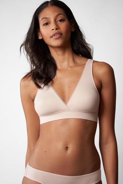 Indulge Wireless Bra in Cashmere Front View