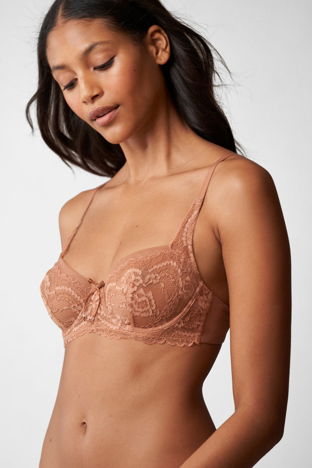Minx Balconette Bra in Gleam Side View